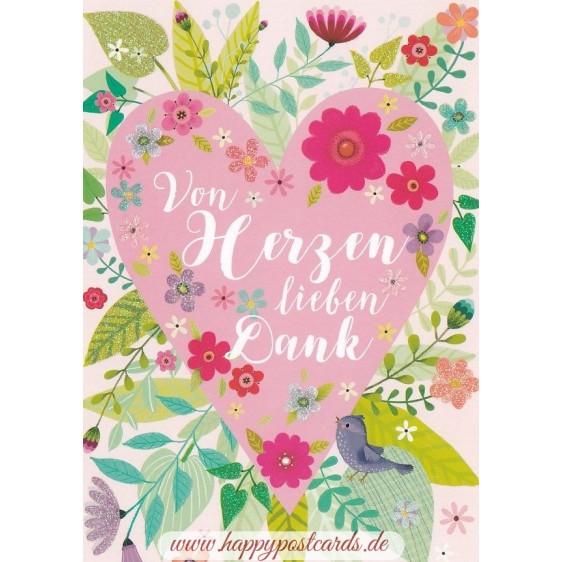 Von Herzen lieben Dank - Mila Marquis Postkarte