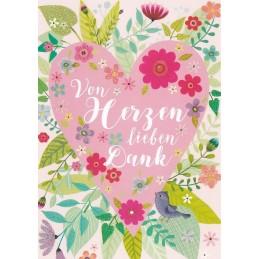 Von Herzen lieben Dank - Mila Marquis Postcard