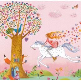 Frau auf einem Pferd - Mila Marquis Postkarte
