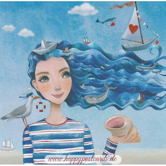 Meerjungfrau - Mila Marquis Postkarte