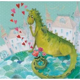 Verliebter Drache - Mila Marquis Postkarte