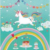 Unicorn over the Rainbow - Mila Marquis Postcard