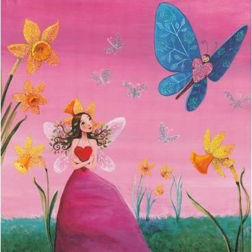 Elfe mit Schmetterling - Mila Marquis Postkarte