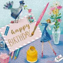 Happy Birthday Letter - Mila Marquis Postcard
