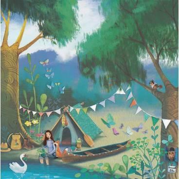 Zelt am See - Mila Marquis Postkarte