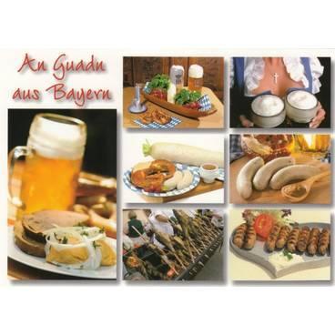 Guten Appetit aus Bayern - Ansichtskarte