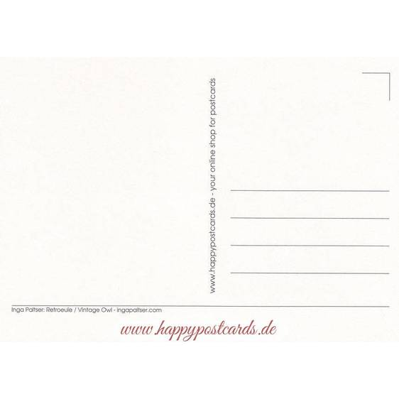 Retroeule - Paltser Postkarte
