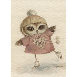 Vintage - Owl - Paltser - Postcard