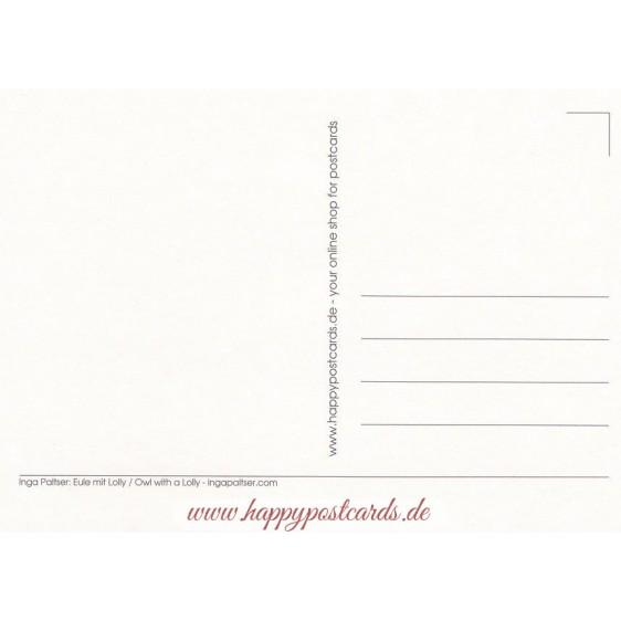 Eule mit Lolly - Paltser Postkarte