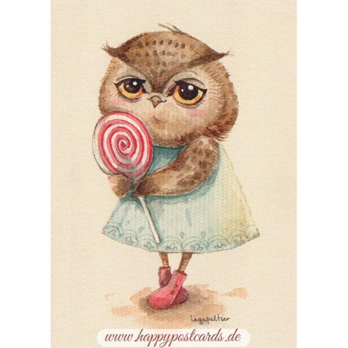 EULE  **  OWL      ***    ***  Postkarte  # 134