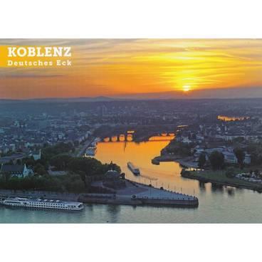 Koblenz - Deutsches Eck - Ansichtskarte