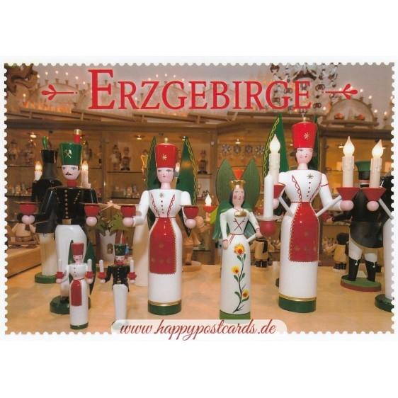 Erzgebirge - Wood craft - Viewcard