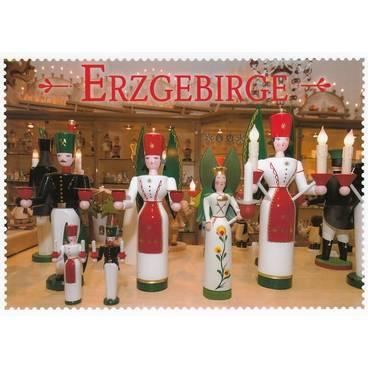 Erzgebirge - Schnitzkunst - Ansichtskarte