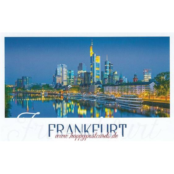 Frankfurt - Night - Skyline - HotSpot-Card