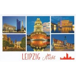 Leipzig bei Nacht - HotSpot-Card