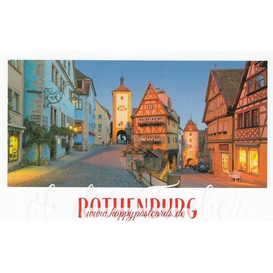Rothenburg o.d. Tauber Nacht - HotSpot-Card