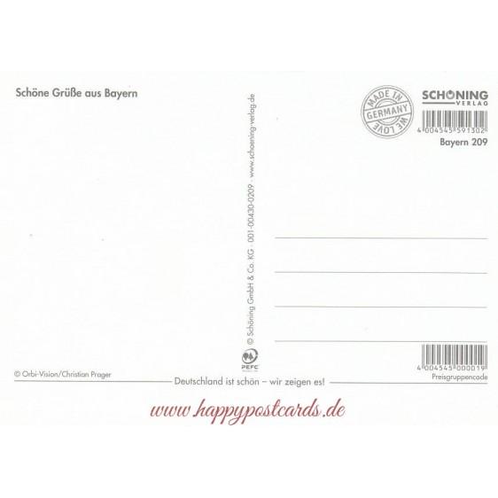 Bavaria Folk dance - Viewcard