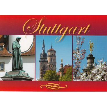 Stuttgart - Stiftskirche - Ansichtskarte