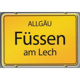 Füssen Ortsschild - Viewcard