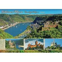 Castles at the Rhine - Map - Viewcard