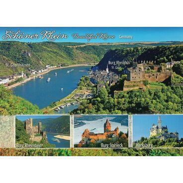 Burgen am Rhein - St. Goar - Ansichtskarte