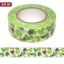 Ladybird on shamrocks Washi Tape - Masking Tape