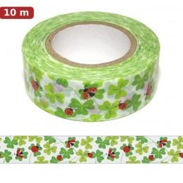 Marienkäfer auf Kleeblättern Washi Tape - Masking Tape