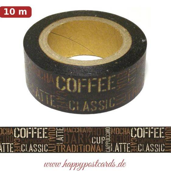 Washi Tape - Coffee - Masking Tape