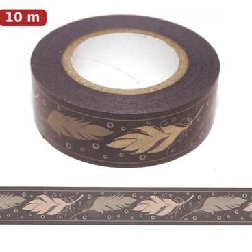Federn natur - Washi Tape - Masking Tape