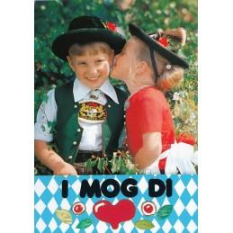 Bayrische Trachtenkinder - Ansichtskarte