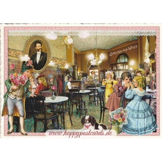 Vienna - Coffeehouse - Tausendschön - Postcard
