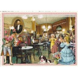 Wien - Kaffeehaus - Tausendschön - Postkarte