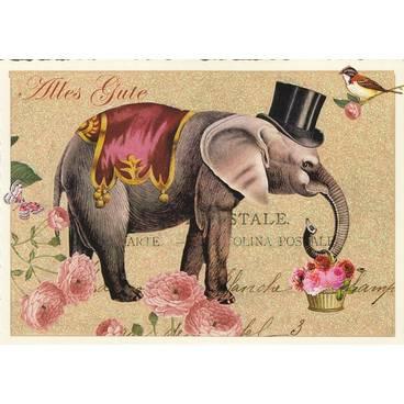 Elefant - Tausendschön - Postkarte