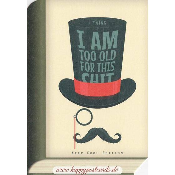 Too Old - BookCARD