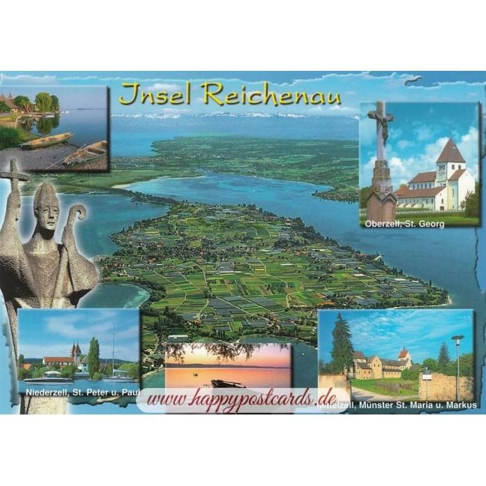 Insel Reichenau Karte.Reichenau Im Bodensee 2 Ansichtskarte
