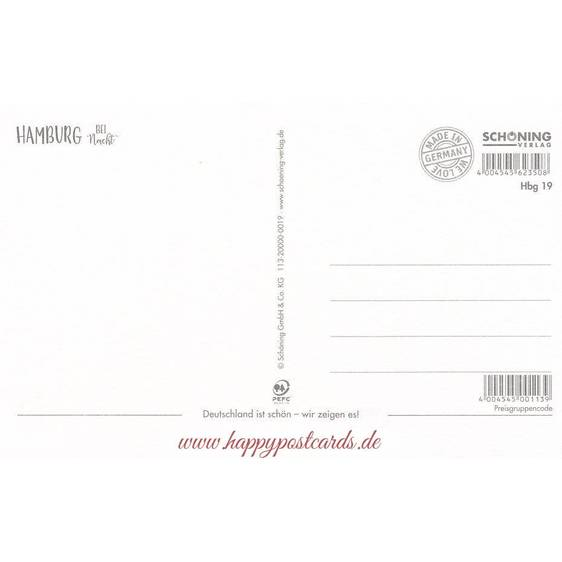 Hamburg bei Nacht - HotSpot-Card
