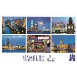 Hamburg at night - HotSpot-Card