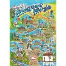 Berchtesgadener Land - Map - Postcard