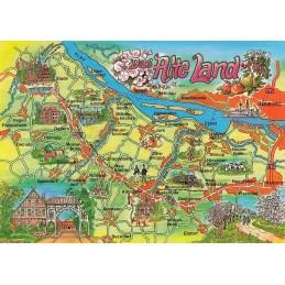 Das Alte Land - Map - Postkarte