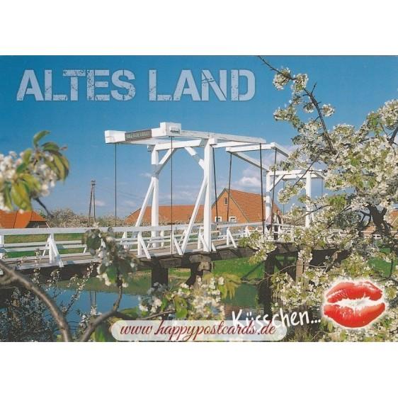 Küsschen Altes Land - Postkarte