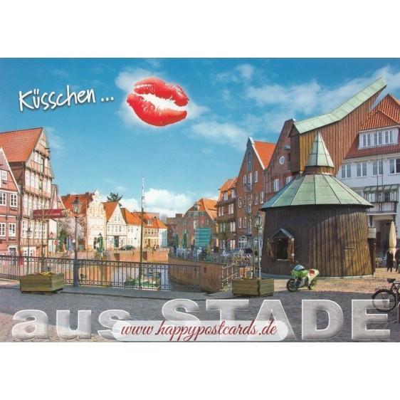 Küsschen Stade - Postkarte