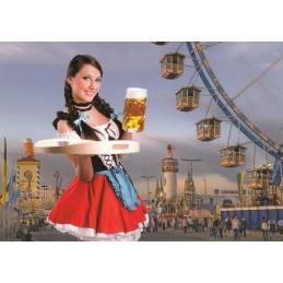 München Oktoberfest 2 - Ansichtskarte