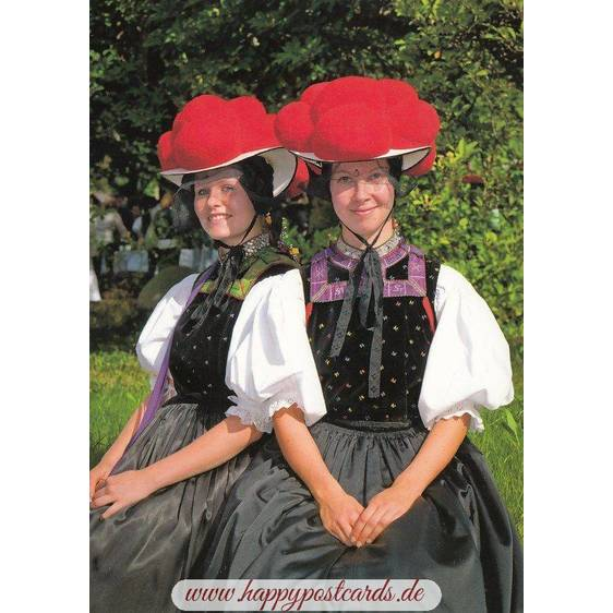 Traditional Costumes - Black Forest 3 - Viewcard