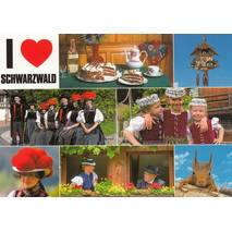 I love Black Forest - Viewcard