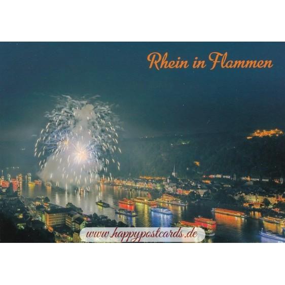 St. Goar - Rhein in Flammen - Ansichtskarte