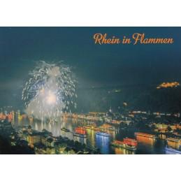 St. Goar Rhine in Flames - Viewcard