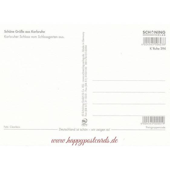Karlsruhe Castle 2 - Viewcard
