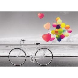 Fahrrad am Meer - Kontraste - Postkarte