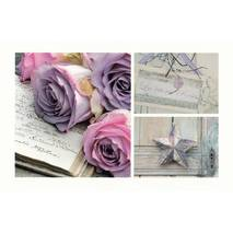 Purple roses - Aquarupella postcard