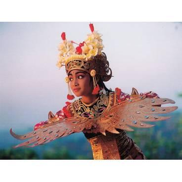 Legong Tänzerin - Bali, Indonesien - Aquarupella Postkarte
